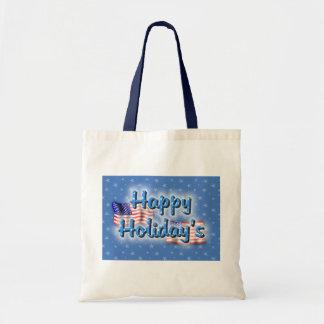 Patriotic Happy Holiday's Budget Tote Bag