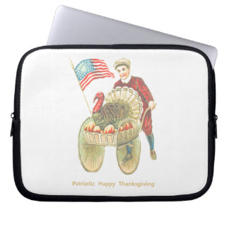 Patriotic Happy Thanksgiving Laptop Sleeve
