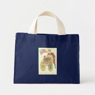 Patriotic Happy Thanksgiving Mini Tote Bag