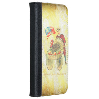 Patriotic Happy Thanksgiving iPhone 6 Wallet Case