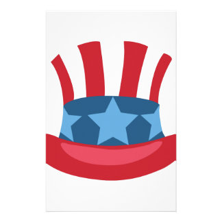 Patriotic Hat Personalized Stationery