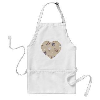 patriotic heart standard apron