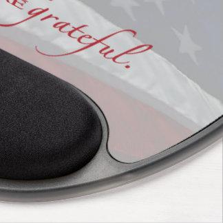 Patriotic Heart Flag, Military Appreciation Gel Mouse Pad