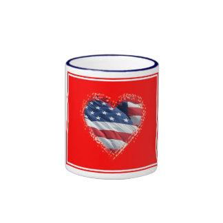 Patriotic Heart Mug