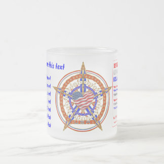 Patriotic Heart View About Design Below Frosted Glass Coffee Mug