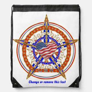 Patriotic Heart View About Design Below Rucksacks