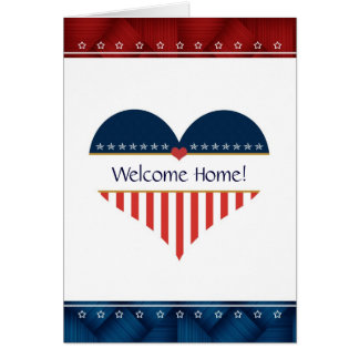 Patriotic Heart Welcome Home Greeting Card