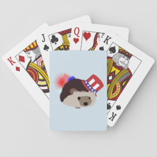 Patriotic Hedgehog Playing Cards
