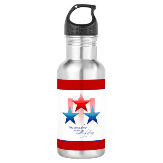 Patriotic Hero Wall of Glory, Thank You Military 532 Ml Water Bottle