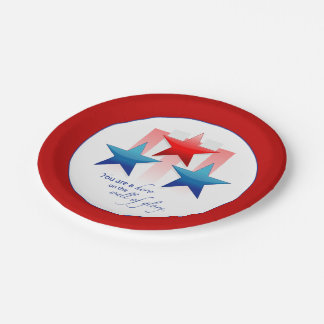 Patriotic Hero Wall of Glory, Thank You Military S Paper Plate