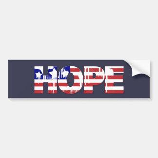 "Patriotic Hope ""Red, White & Blue"" Bumper Sticker"