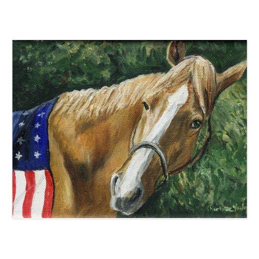 """Patriotic Horse"" Art Reproduction Postcards"
