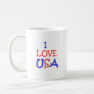 Patriotic I Love USA Coffee Mug