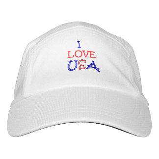 Patriotic I Love USA Hat