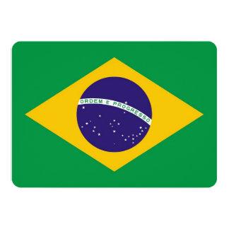 Patriotic invitations with Brazil Flag