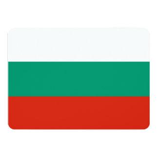Patriotic invitations with Bulgaria Flag