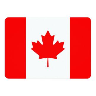 Patriotic invitations with Canada Flag