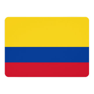 Patriotic invitations with Colombia Flag