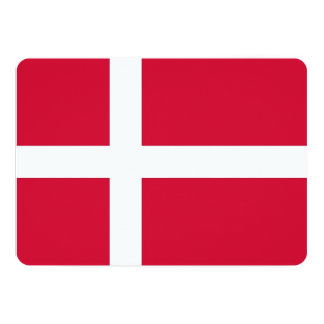 Patriotic invitations with Denmark Flag