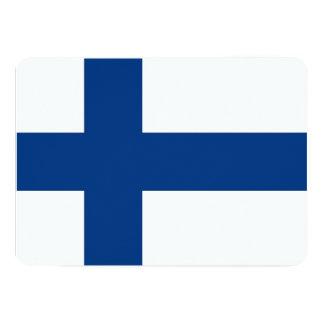 Patriotic invitations with Finland Flag