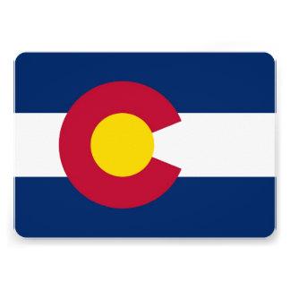 Patriotic invitations with Flag of Colorado