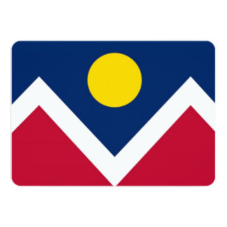 Patriotic invitations with Flag of Denver