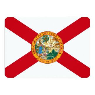 Patriotic invitations with Flag of Florida
