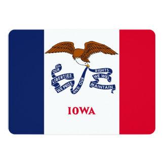 Patriotic invitations with Flag of Iowa