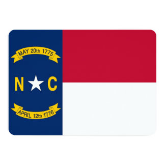 Patriotic invitations with Flag of North Carolina