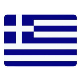 Patriotic invitations with Greece Flag