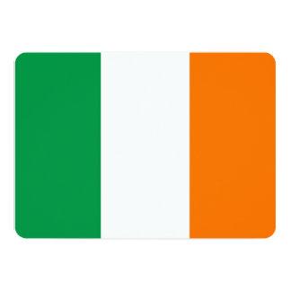Patriotic invitations with Ireland Flag