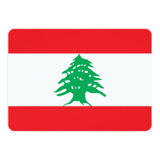 Patriotic invitations with Lebanon Flag