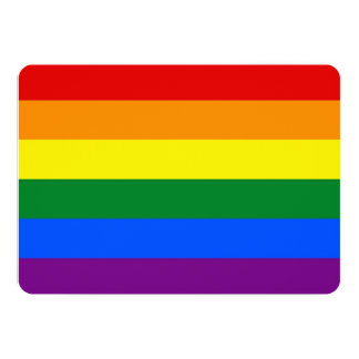 Patriotic invitations with LGBT Flag
