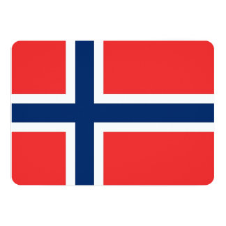 Patriotic invitations with Norway Flag