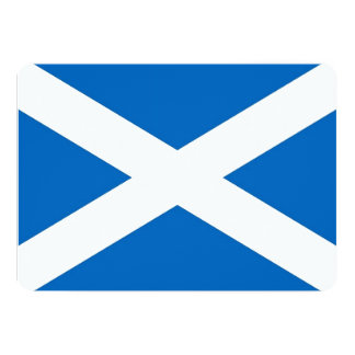 Patriotic invitations with Scotland Flag