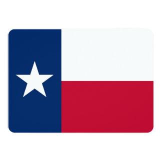 Patriotic invitations with Texas Flag