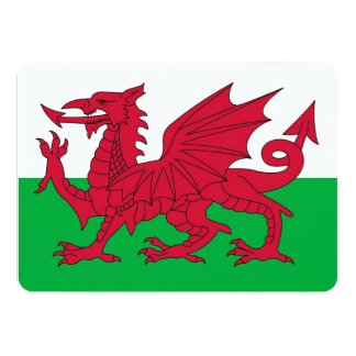 Patriotic invitations with Wales Flag