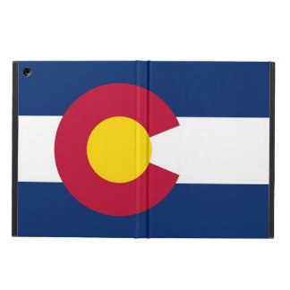 Patriotic ipad case with Flag of Colorado State