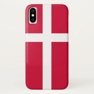 Patriotic Iphone X Case with Flag of Denmark