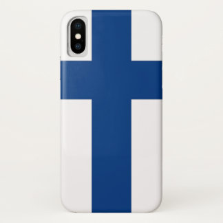Patriotic Iphone X Case with Flag of Finland