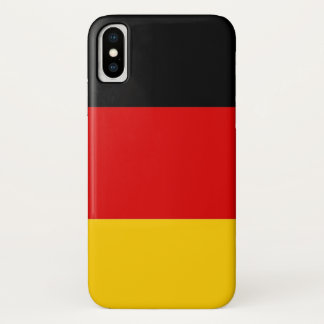 Patriotic Iphone X Case with Flag of Germany
