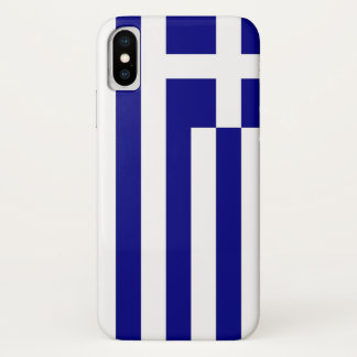 Patriotic Iphone X Case with Flag of Greece