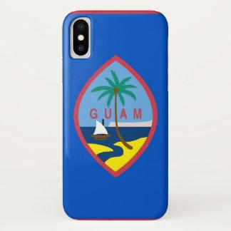 Patriotic Iphone X Case with Flag of Guam