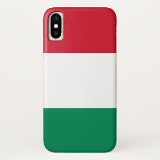 Patriotic Iphone X Case with Flag of Hungary