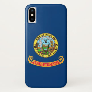 Patriotic Iphone X Case with Flag of Idaho