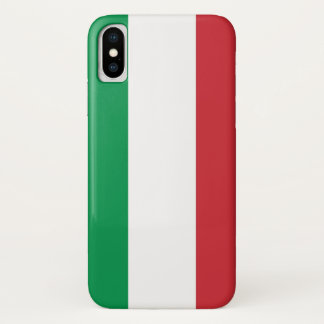 Patriotic Iphone X Case with Flag of Italy