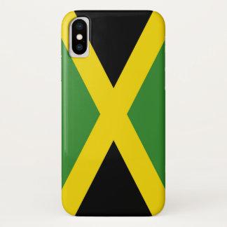 Patriotic Iphone X Case with Flag of Jamaica
