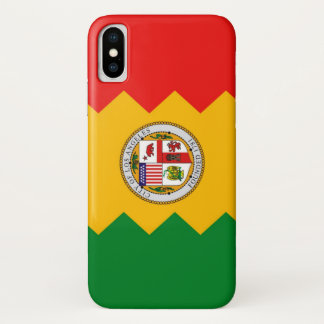 Patriotic Iphone X Case with Flag of Los Angeles