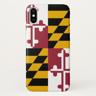 Patriotic Iphone X Case with Flag of Maryland