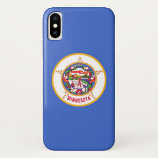 Patriotic Iphone X Case with Flag of Minnesota